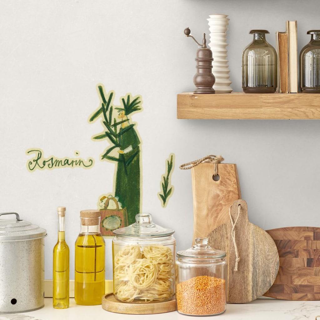 Wall-Art Wandtattoo »Kräuterfrau Küche Rosmarin«