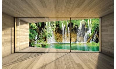Consalnet Vliestapete »Wasserfall Terrasse«, verschiedene Motivgrößen, für das Büro... kaufen