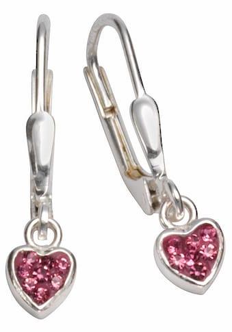 Firetti Paar Ohrhänger »Herzen, glänzend, massiv«, mit Zirkonia kaufen
