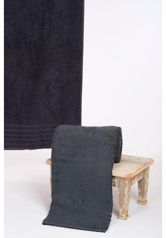 Wewo fashion Saunatuch »AIDA«, (1 St.), Bestickung SAUNA kaufen
