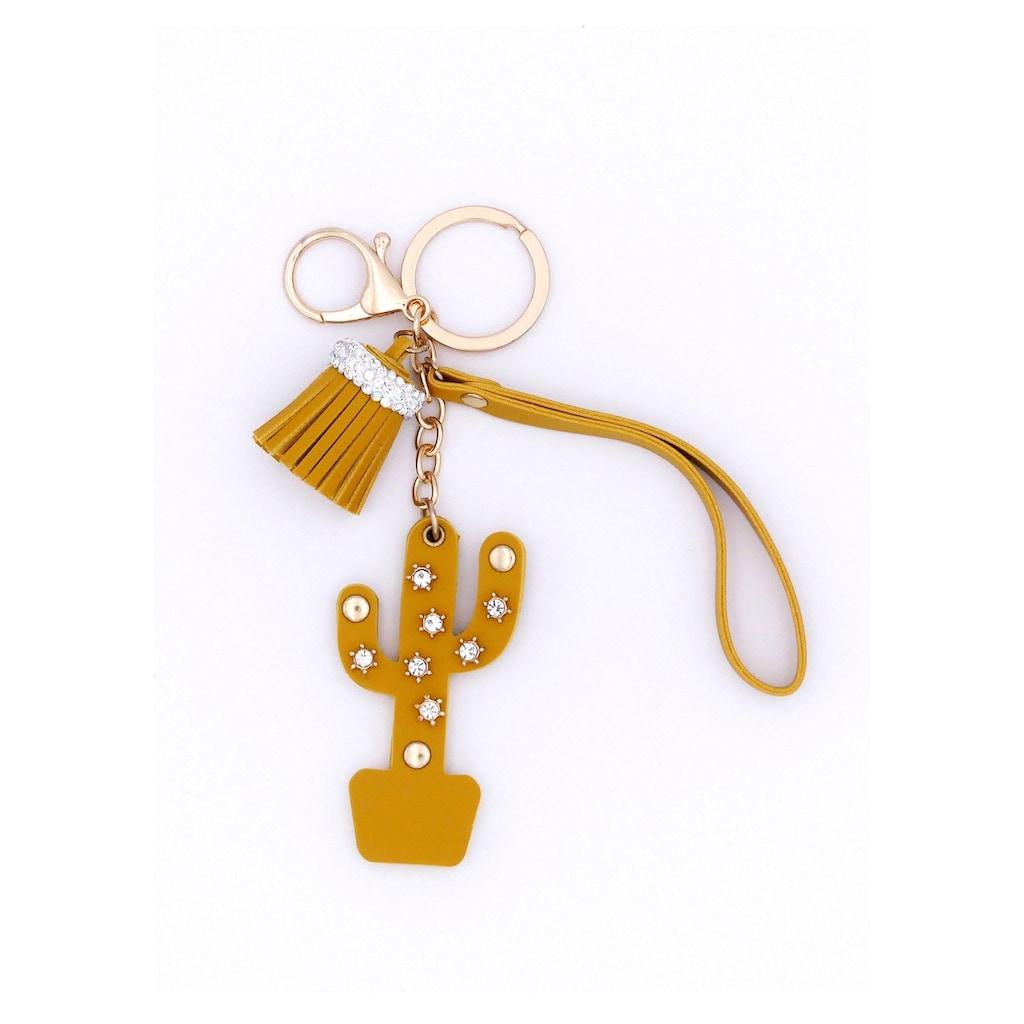 J.Jayz Schlüsselanhänger »mit Quasten- und Kaktusanhänger«, mit Glassteinen