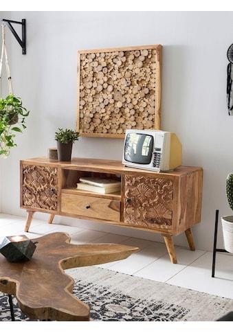 SIT Lowboard »Carved«, mit detailreichen Schnitzereien, Breite 130 cm kaufen