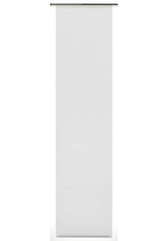 Schiebegardine, »Flächenvorhang Stoff Uni mit weißen Paneelwagen«, GARDINIA, Paneelwagen 1 Stück kaufen