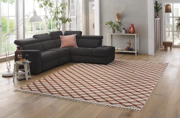 Kelim Teppich in Erdfarben