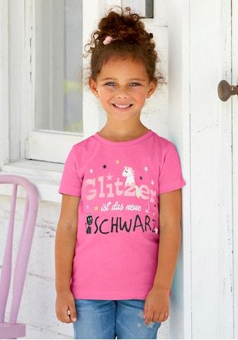 KIDSWORLD T-Shirt »Glitzer ist das neue Schwarz«, mit Glitzerdruck kaufen