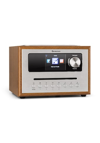 Auna CD Cube Radio Bluetooth HCC Display wood brown »Silver Star« kaufen
