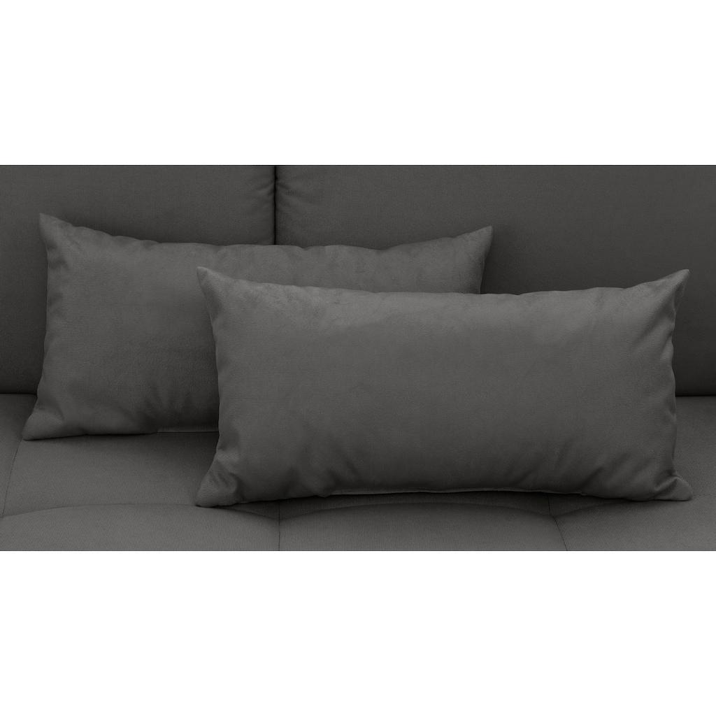my home Schlafsofa »Jack«, mit Bettkasten und losen Armlehnkissen, feine Steppung im Sitzbereich