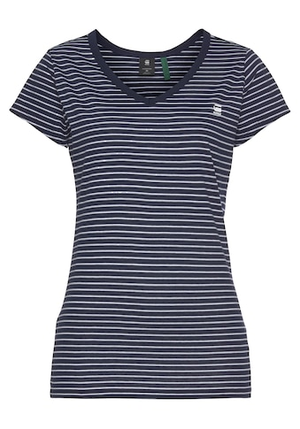 G-Star RAW V-Shirt »Eyben slim v t«, mit kleinen Logo-Frontdruck kaufen
