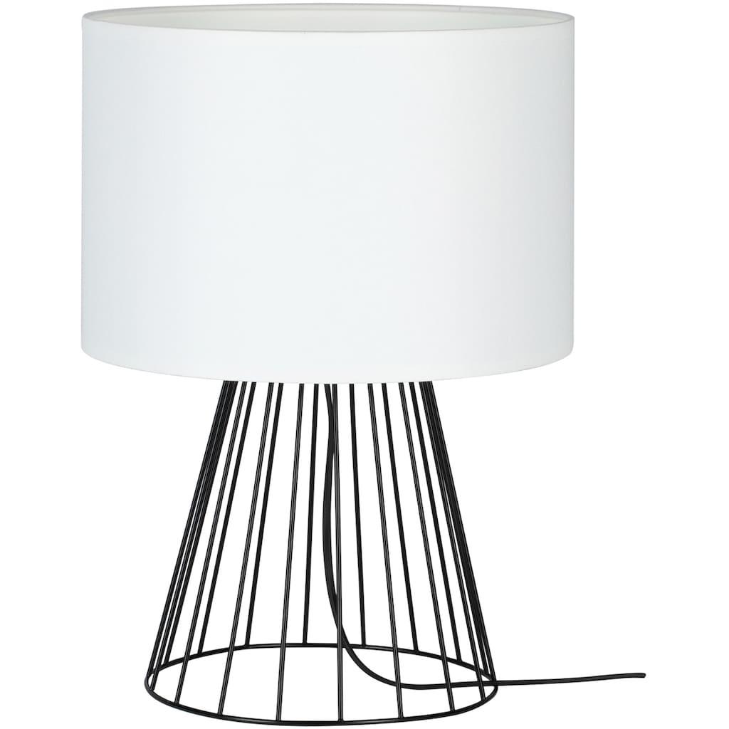 BRITOP LIGHTING Tischleuchte »Swan«, E27, 1 St., Dekorative Leuchte aus Metall mit hochwertigem Lampenschirm in Kontrastfarbe, passende LM E27 / exklusive, Made in Europe