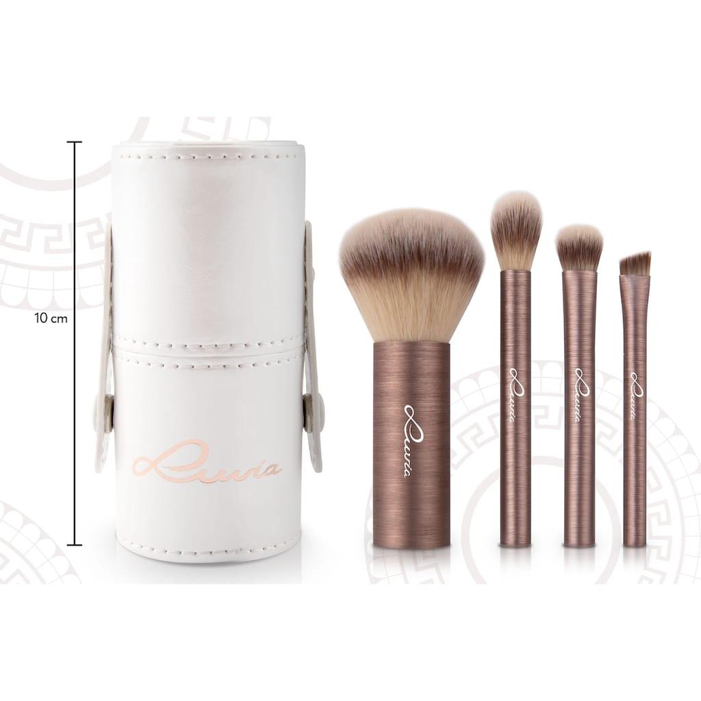 Luvia Cosmetics Kosmetikpinsel-Set »Mini Prime Vegan«, (4 tlg.), in Reisegröße