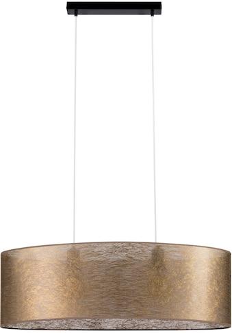 Leonique Pendelleuchte »DOROTHE«, E27, Hochwertiger Schirm aus Stoff in Goldfarben,... kaufen