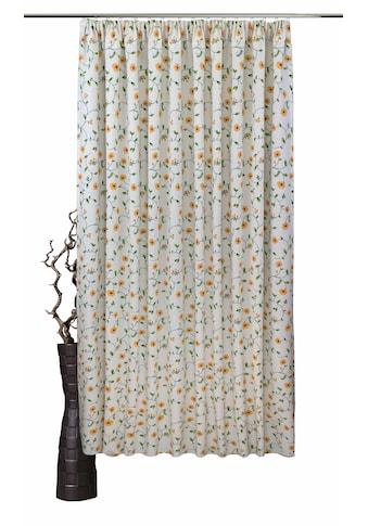 VHG Vorhang nach Maß »Kati«, Leinenoptik, Blumen, Ranke, Breite 150 cm kaufen