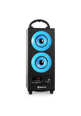Auna Bluetooth Lautsprecher Radio USB SD AUX UKW/MW MP3 Akkubetrieb »Beachboy« kaufen