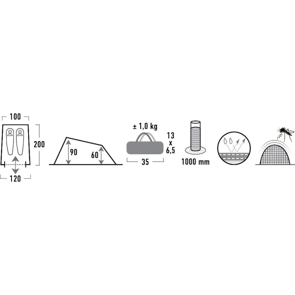 High Peak Hauszelt »Minilite«, 2 Personen, (Set, mit Transporttasche)