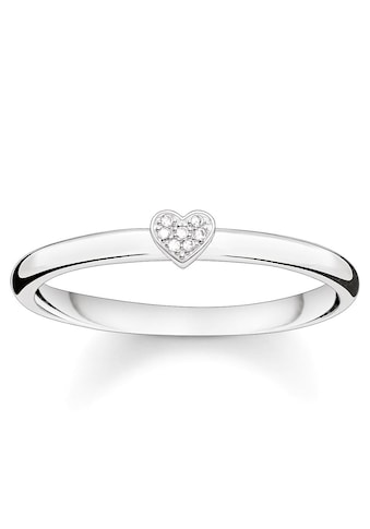 THOMAS SABO Diamantring »Herz, D_TR0014-725-14-48, 50, 52, 54, 56, 58, 60«, mit Diamanten kaufen