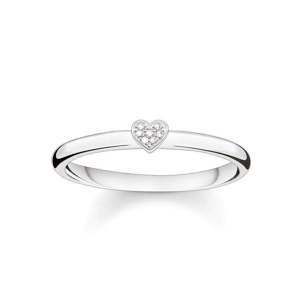THOMAS SABO Diamantring »Herz, D_TR0014-725-14-48, 50, 52, 54, 56, 58, 60«, mit Diamanten