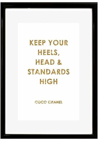Leonique Bild »Spruch: Keep your heels, …«, 30/40 cm, gerahmt kaufen