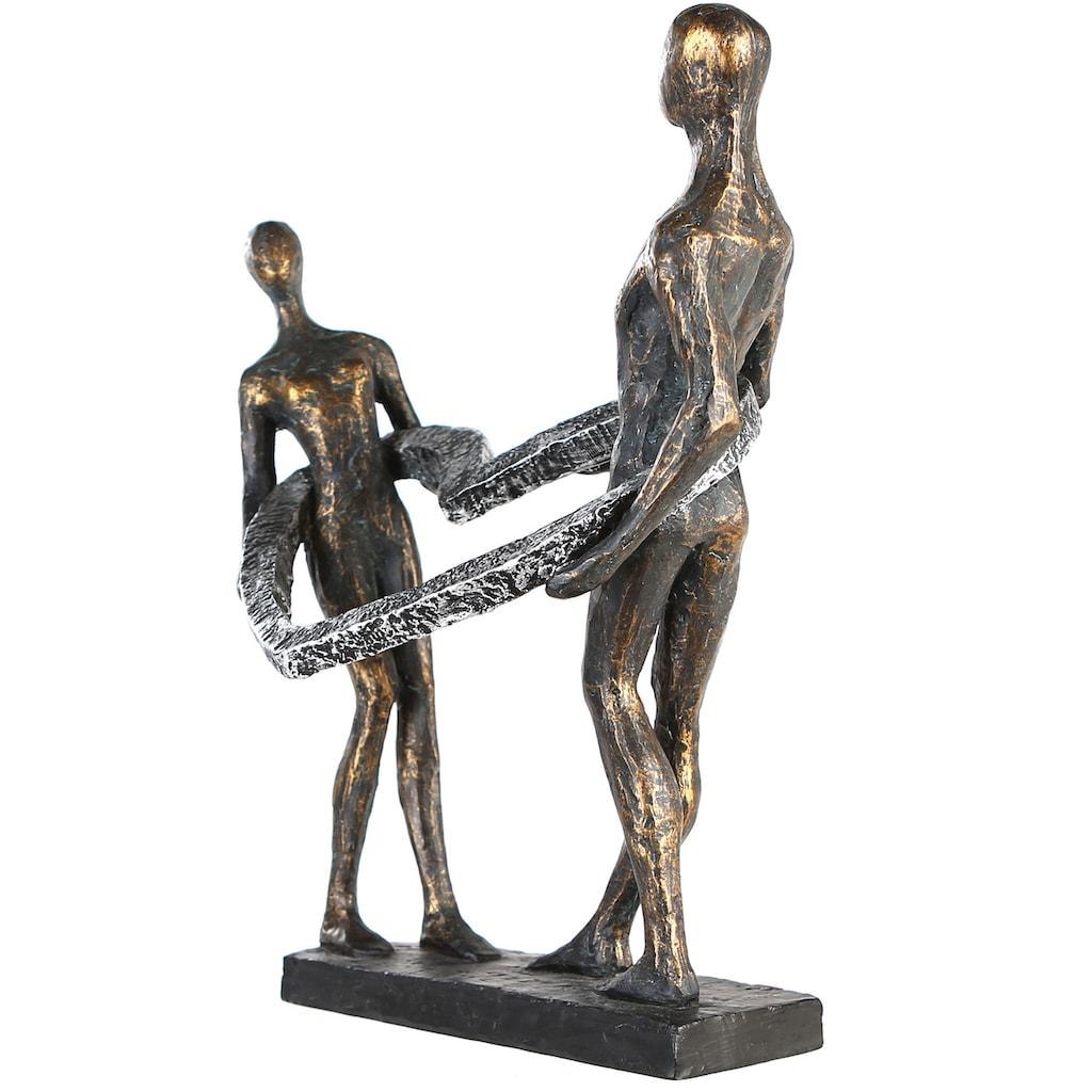 Casablanca by Gilde Dekofigur »Skulptur Connected«, Dekoobjekt, Höhe 31 cm, mit Spruchanhänger, Wohnzimmer