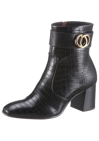 Tamaris Stiefelette »Solo«, im trendigen Kroko-Look kaufen