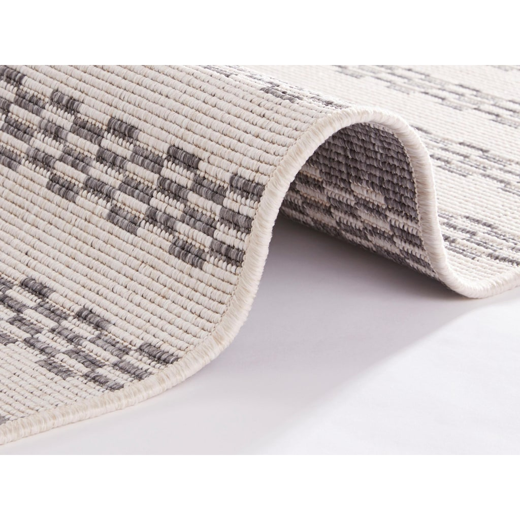 freundin Home Collection Teppich »Oak«, rechteckig, 5 mm Höhe, In- und Outdoor geeignet, Wendeteppich, Wohnzimmer