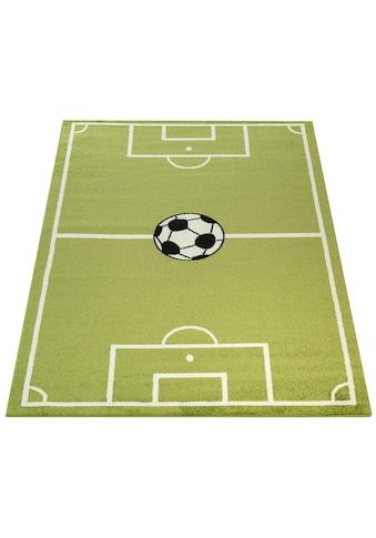 Paco Home Kinderteppich »ECE Fussball 953«, rechteckig, 14 mm Höhe, Kurzflor, Fußball... kaufen
