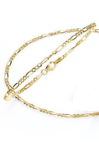 Firetti Schmuckset »Kette und Armband in Figarokettengliederung, 2-fach diamantiert,... kaufen
