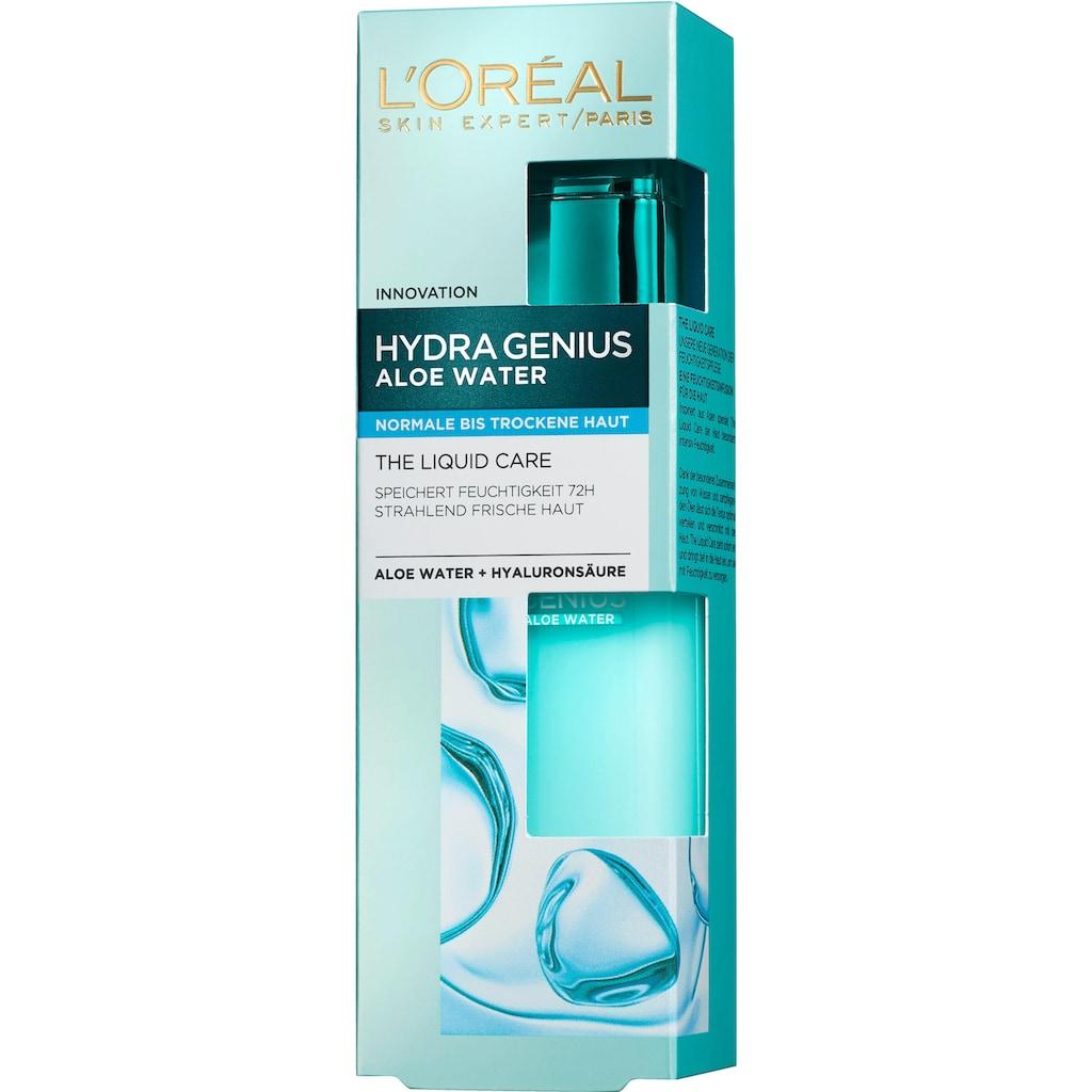 L'ORÉAL PARIS Gesichtsfluid »Hydra Genius Aloe Aqua«, für normale bis trockene Haut