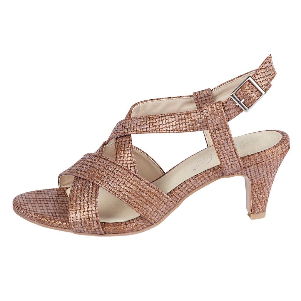 Sandalette mit gekreuzten Riemen