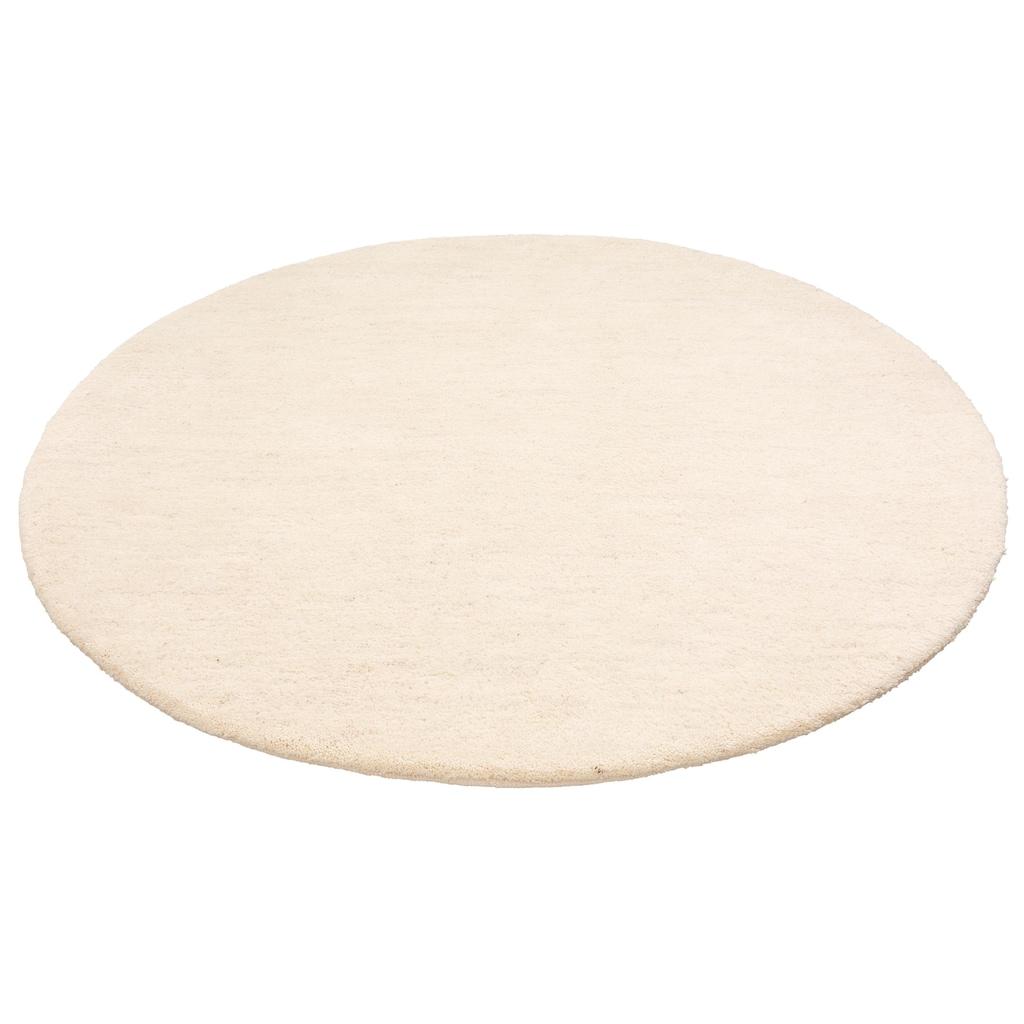 Leonique Wollteppich »Punam«, rund, 28 mm Höhe, reine Wolle, echter Berber, handgeknüpft, Wohnzimmer