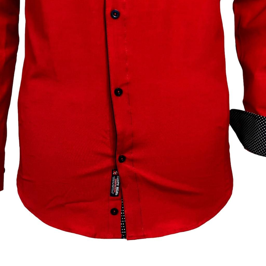 Rusty Neal Langarmhemd mit Manschetten
