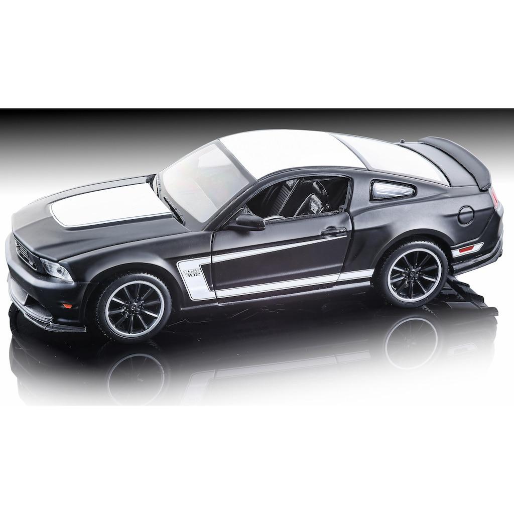 Maisto® Sammlerauto »Dull Black Collection, Ford Mustang Boss 302, 1:24, schwarz«, 1:24, aus Metallspritzguss