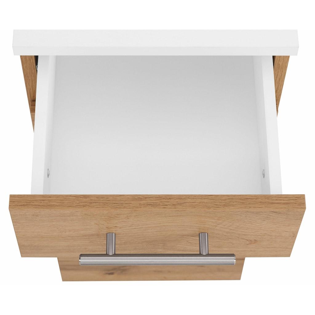Schildmeyer Badmöbel-Set »Rhodos«, (Set, 5 St.), mit Metallgriffen, verstellbare Einlegeböden, z.T. wechselbare Türanschläge