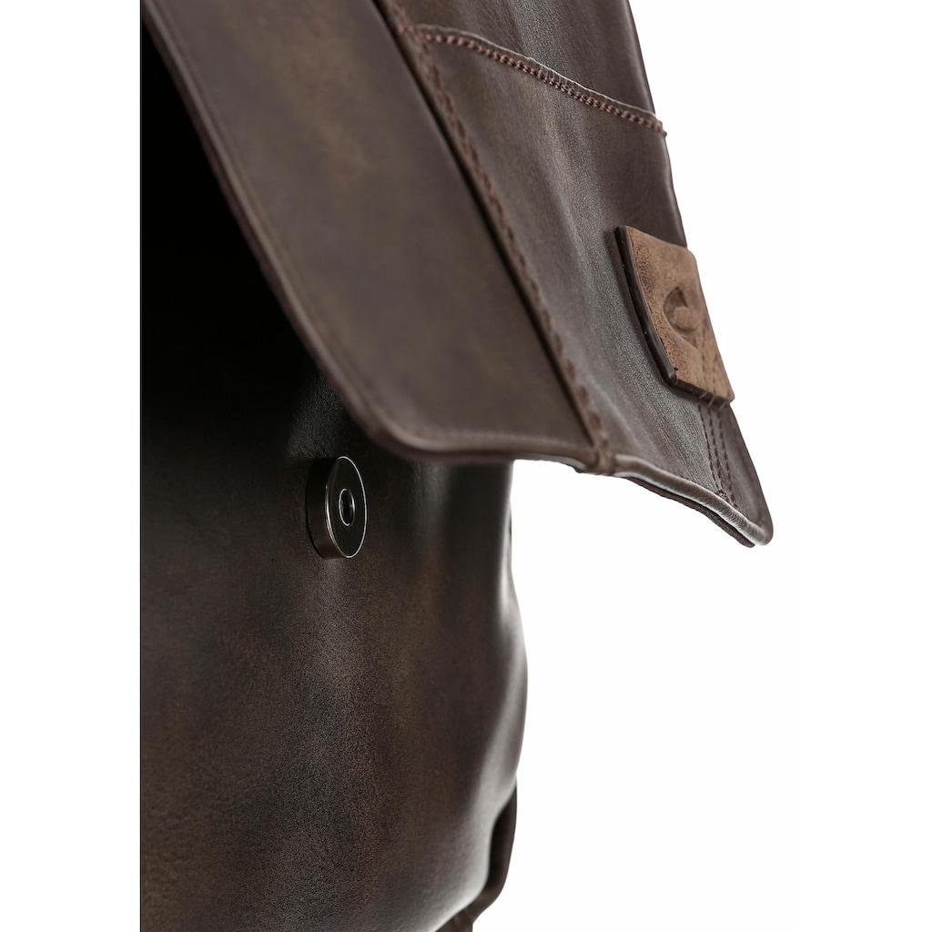 camel active Umhängetasche »LAOS«, mit verstellbarem Umhängeriemen