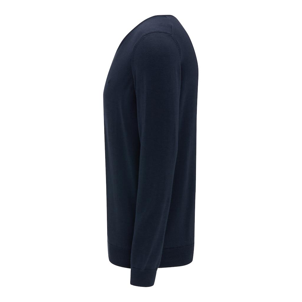 MUSTANG V-Ausschnitt-Pullover »Basic V-Neck Jumper«