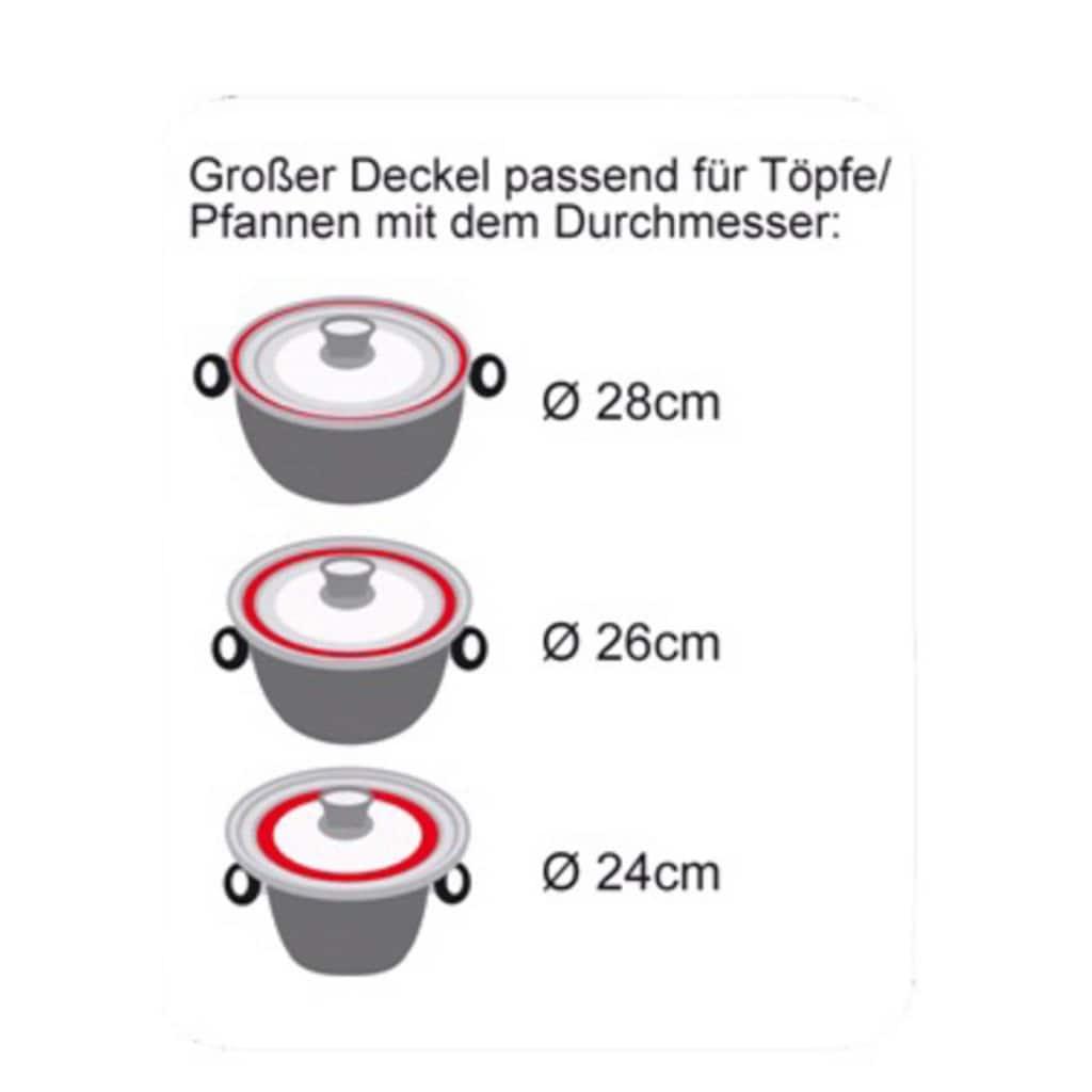 STONELINE Deckel »STONELINE®«, (Set, 2 tlg.), für 6 verschiedene Durchmesser