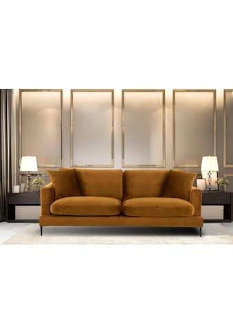 Leonique 3-Sitzer »Cozy«, mit losen Kissen und Metallbeinen kaufen