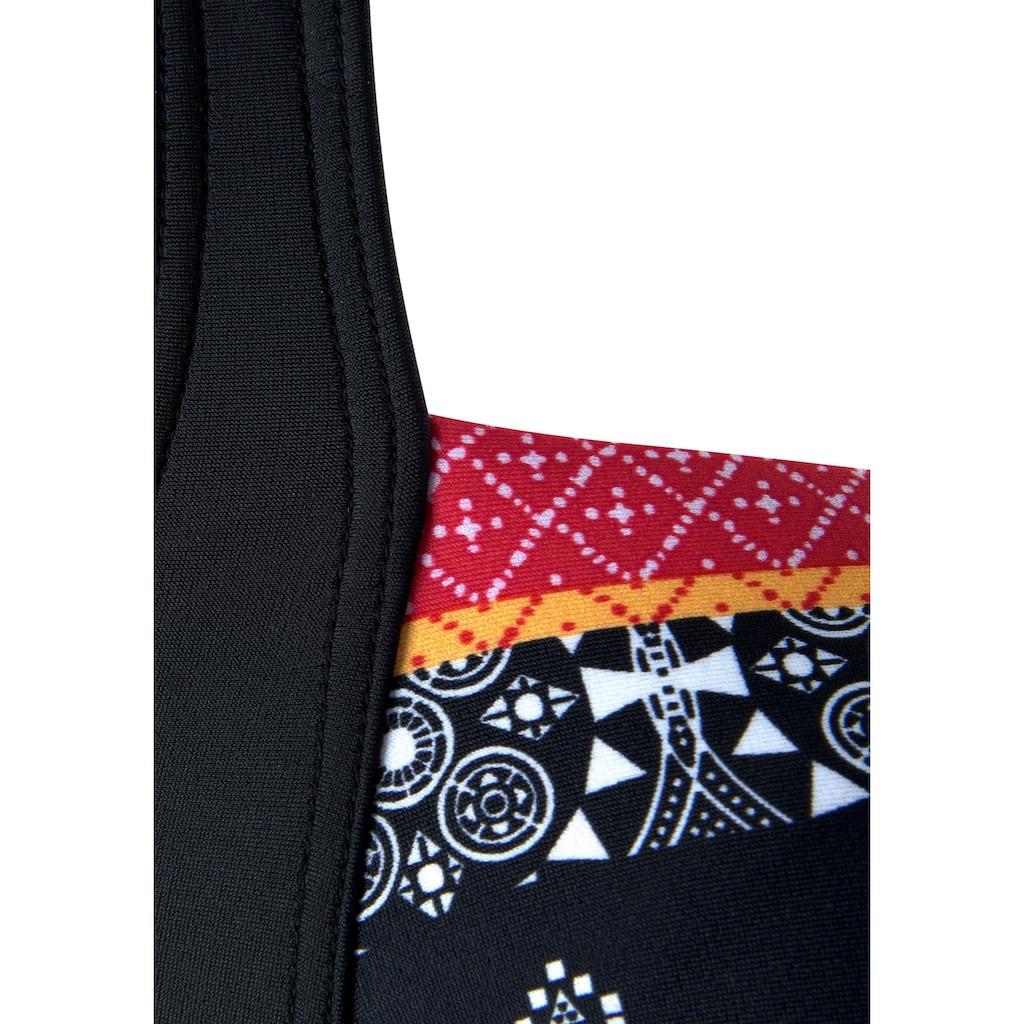 LASCANA Badeanzug »Kimer«, mit modernem Print und Shaping-Effekt