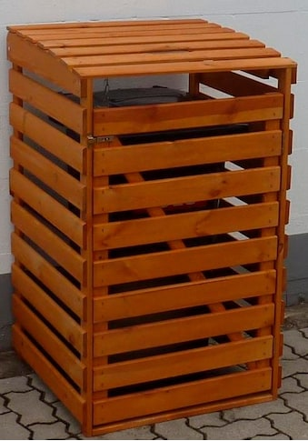 promadino Mülltonnenbox, für 1x120 l aus Holz, BxTxH: 68x63x111 cm kaufen