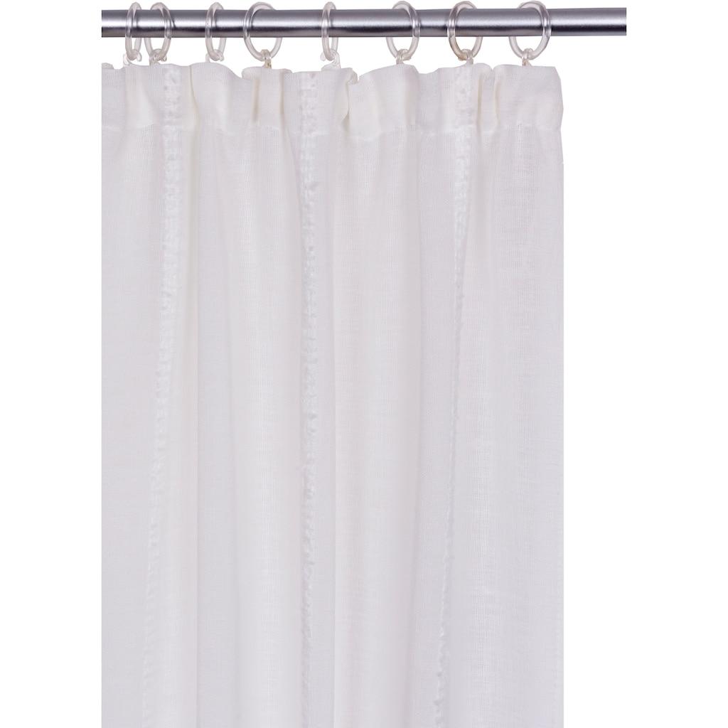 andas Vorhang »Visby«, monochrom mit Effektgarn, halbtransparent, pflegeleicht