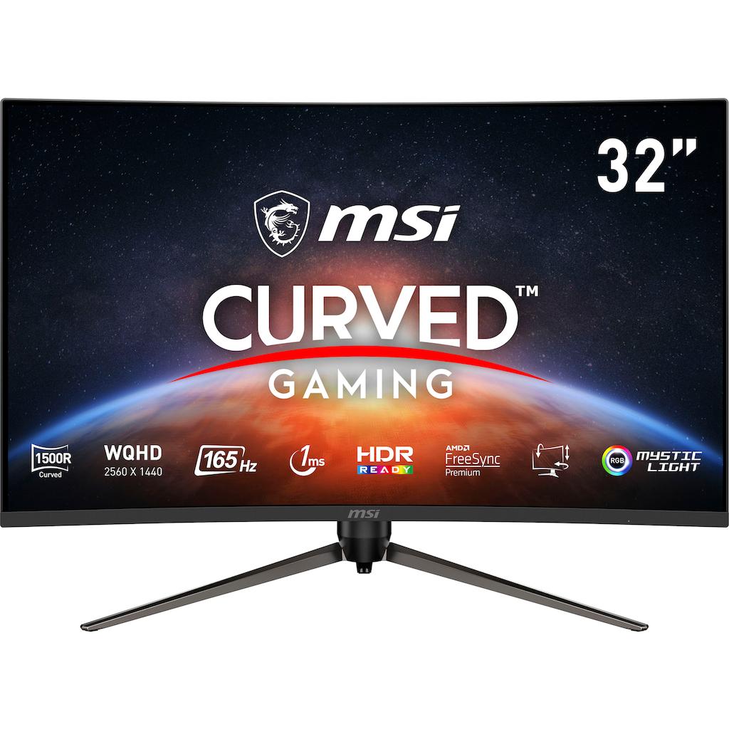 """MSI Curved-Gaming-Monitor »Optix AG321CQR«, 80 cm/31,5 """", 2560 x 1440 px, WQHD, 1 ms Reaktionszeit, 165 Hz, höhenverstellbar, 3 Jahre Herstellergarantie"""