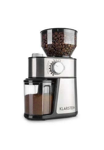 Klarstein Florenz Kaffeemühle 200W Edelstahl - Scheibenmahlwerk schwarz »FlorenzKaffee« kaufen