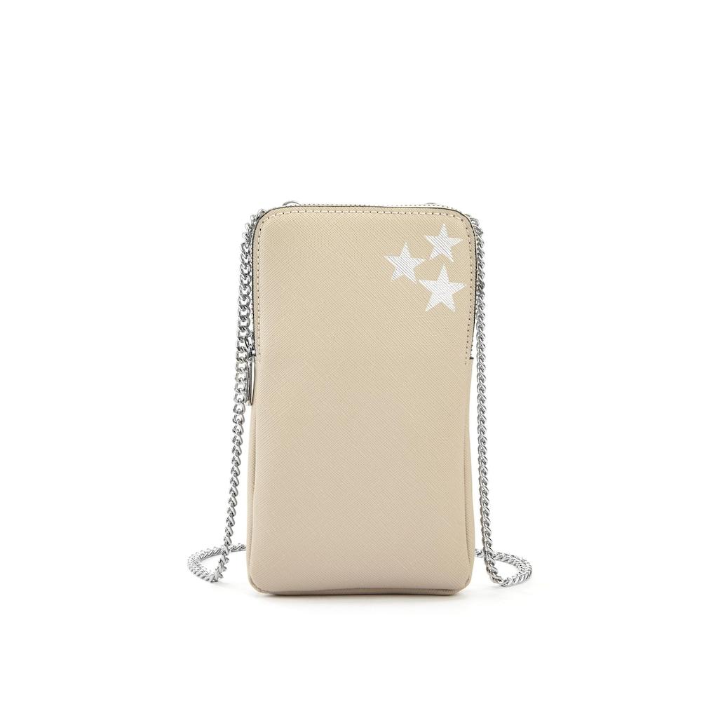 LASCANA Umhängetasche, Minibag, Handytasche zum Umhängen mit Stern Prägung