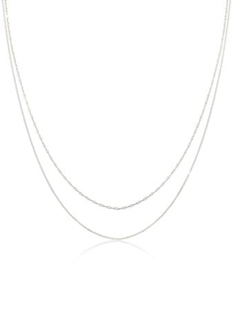 Elli Ketten-Set »Halskette Choker Basic Venezianer Kette Gedreht, 0112121619«, (Set, 2... kaufen