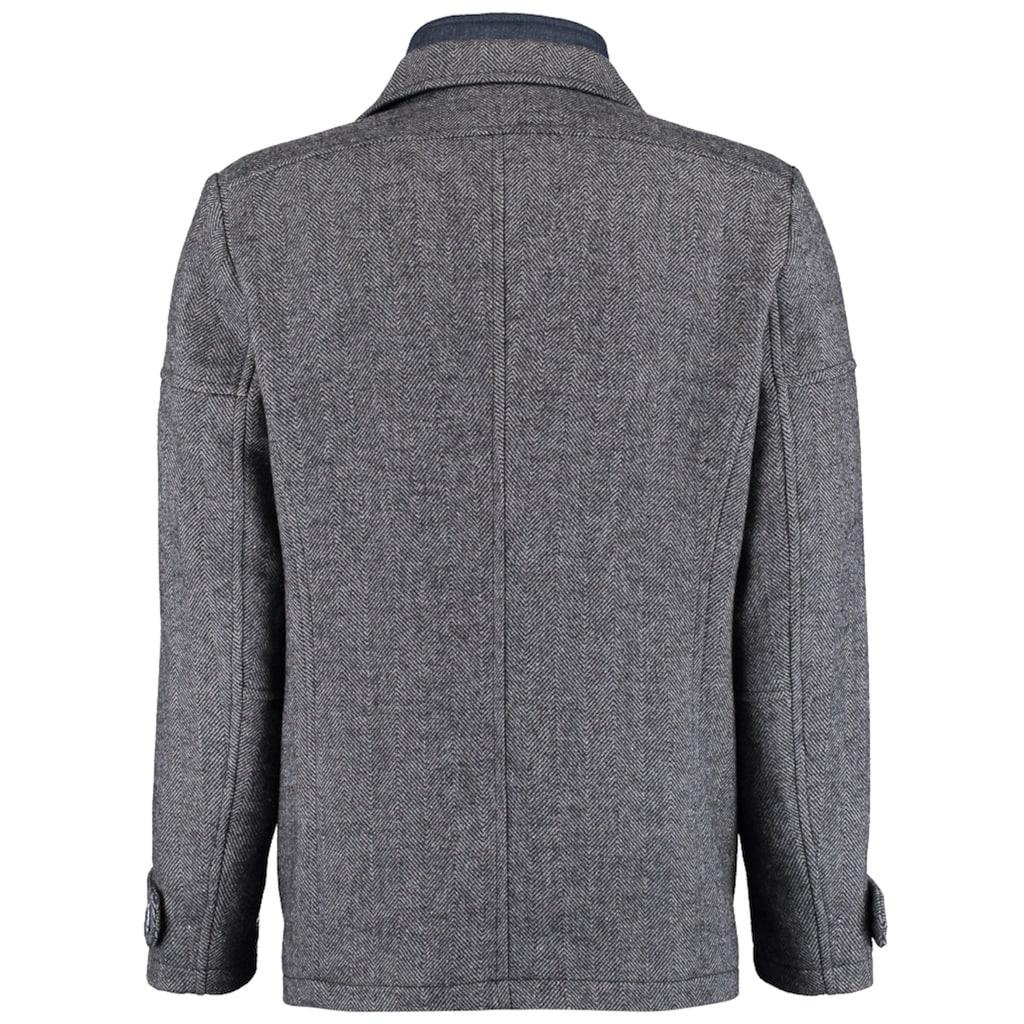 DNR Jackets Herren Jacke mit Doppelkragen und praktischen Taschen