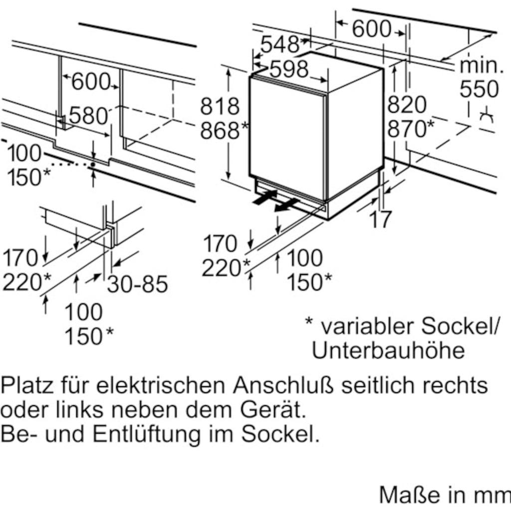 BOSCH Einbaukühlschrank »KUR15AFF0«, 6