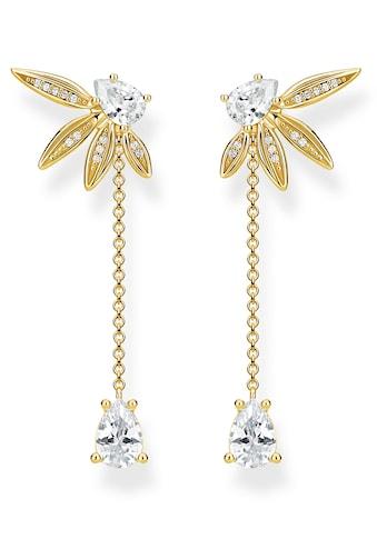 THOMAS SABO Paar Ohrstecker »Blätter mit Kette gold, H2105-414-14«, mit abnehmbaren... kaufen