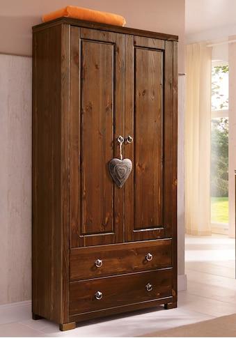 Home affaire Kleiderschrank »Gotland«, Höhe 178 cm, mit Holztüren kaufen