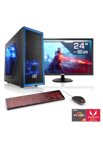 CSL Gaming PC Set | Ryzen 5 3400G | Vega 11 | 16 GB RAM | SSD | TFT »Sprint T8584 Windows 10« kaufen
