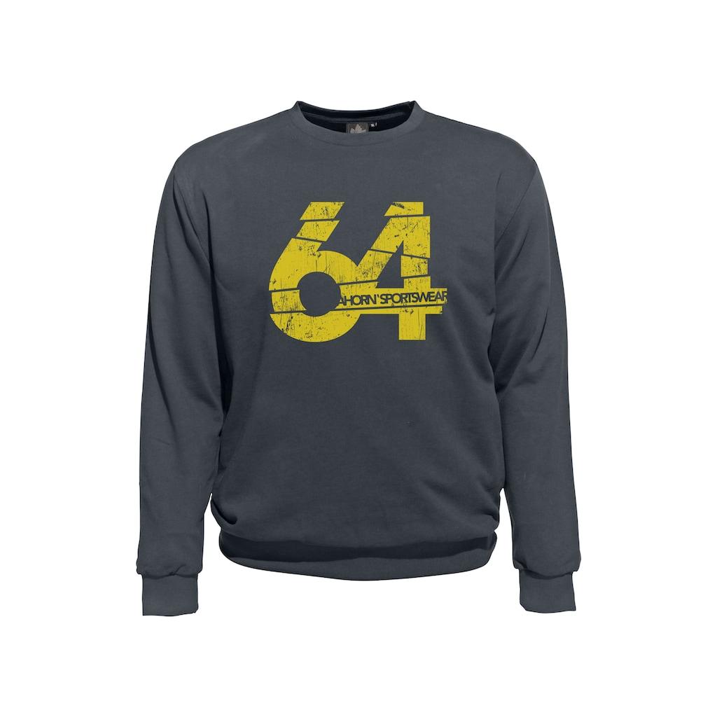 AHORN SPORTSWEAR Sweatshirt, mit kontrastierendem Frontdruck