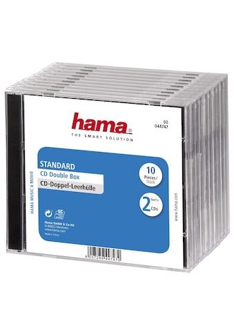 Hama CD-Doppel-Leerhülle Standard, 10er-Pack, Transparent/Schwarz kaufen